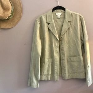 NEW Sage Embroidered Chore Coat